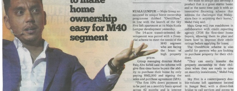 Malay Mail - OwnItNow to make home ownership easy for M40 segment SKM_C554e17030312040